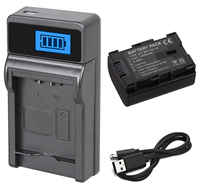 Battery Pack + Charger for JVC Everio GZ E10, GZ E15, GZ E100, GZ E105, GZ E200, GZ E205, GZ E300, GZ E305, GZ E505 HD Camcorder