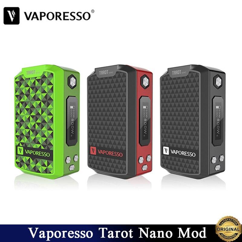 Originele Vaporesso Tarot Nano Mod Vape 80W TC Doos MOD Ingebouwde Batterij 2500mAh Voor VECO EUC Tank Elektronische sigaret Vaporizer-in Elektronische Sigaretten Batterij van Consumentenelektronica op  Groep 1