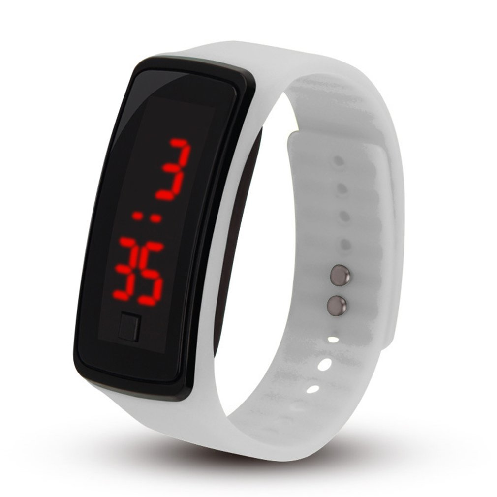 Hot 2018 Silicone Led Lover's Watches Men Women Electronic LED Digital Watch Man Ladies Morning Running Sport Watch