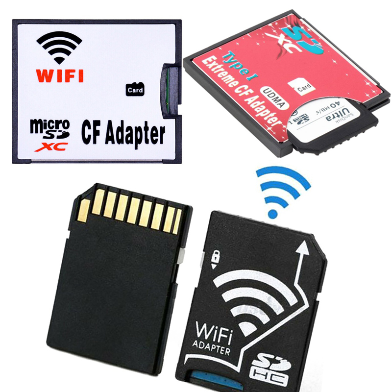 TF To Wifi CF Card Wi-FI Adapter,SD To CF Card Adapter SDHC SDXC To 3.3mm,TF To WIFI SD Card Adapter Wireless Transmit For Canon