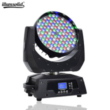 DMX Control DJ Moving Head Lights 108x3W RGBW 4in1 Led Wash Lights Disco Party Beam Projector Ceremony Show Stage Lighting