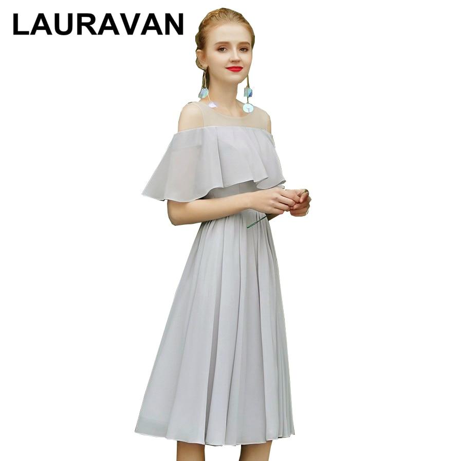 2020 women korean formal woman girl a line gray women plus size prom dress light grey tea length party dresses elegant gown