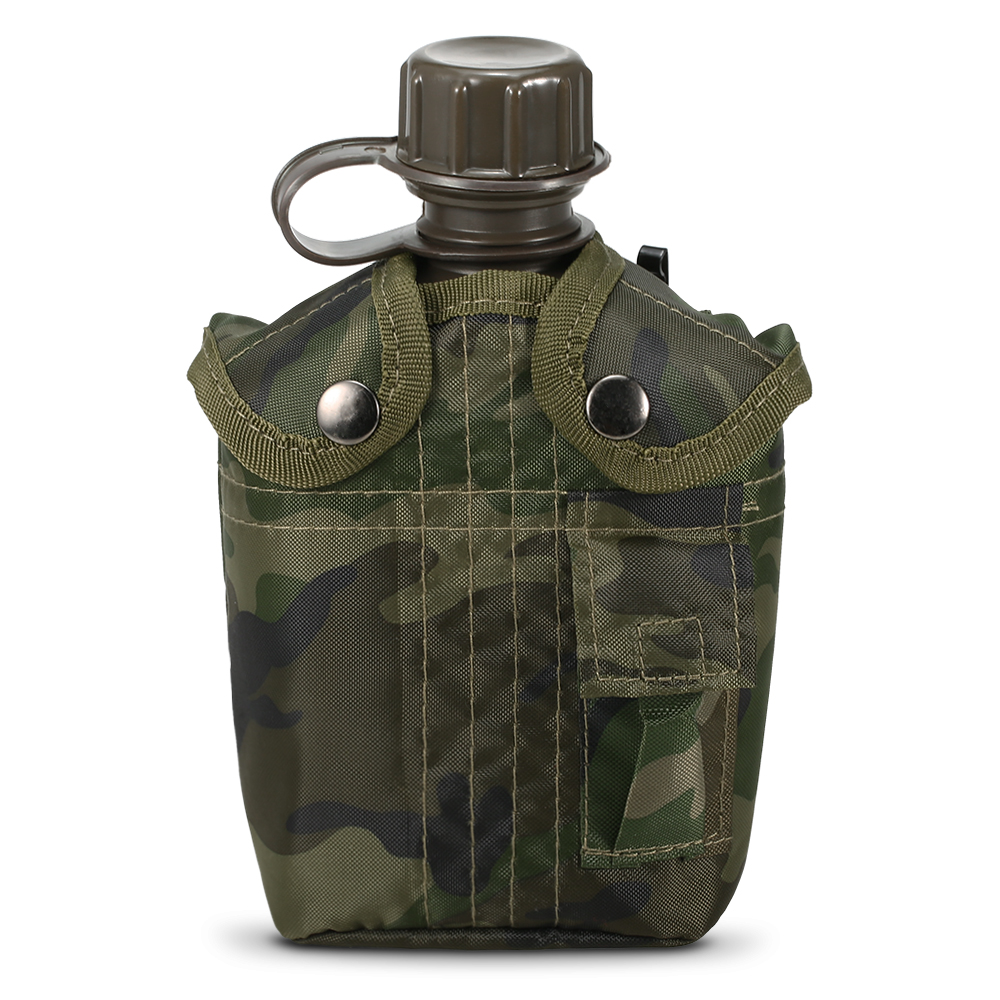Backpacking Kettle Military Canteen Survival-Water-Bottle Hiking Camping Outdoor 1L