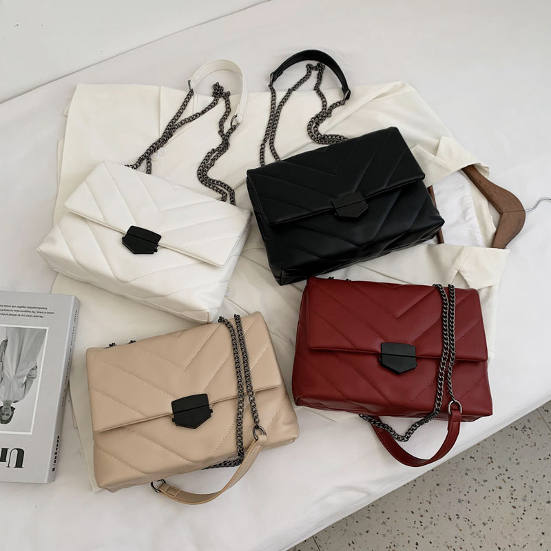 Embroidery Thread Small PU Leather Crossbody Bags For Women 2021 Trend Hand Bag Women's Branded Trending Shoulder Handbags 5