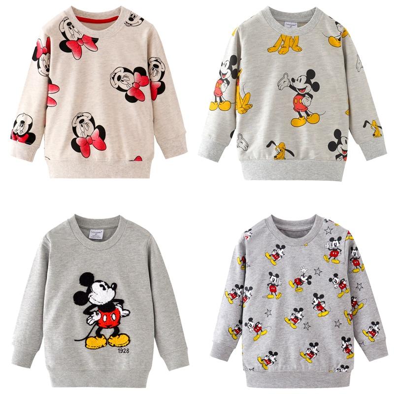 2019 automne mickey Minnie Mouse garçons marque vêtements enfants sweats à capuche fille coton imprimer enfants sweats