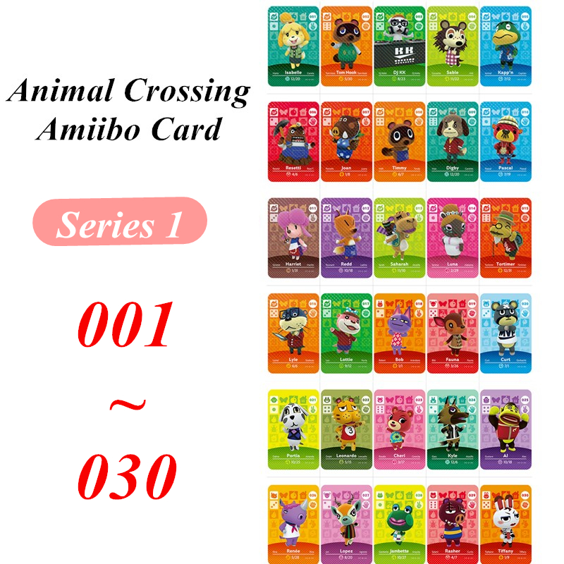 Series 1 Animal Crossing Card Amiibo Game NFC Card For Nintendo Switch NS Games Series 1 (1 To 30)