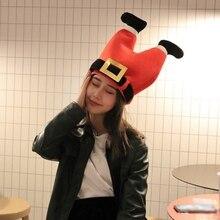 Рождественский реквизит для вечеринок, украшение, забавная игрушка, подарок, теплая шапка, плюшевый эльф, шапка Санты, украшение, шапка, год, Рождество