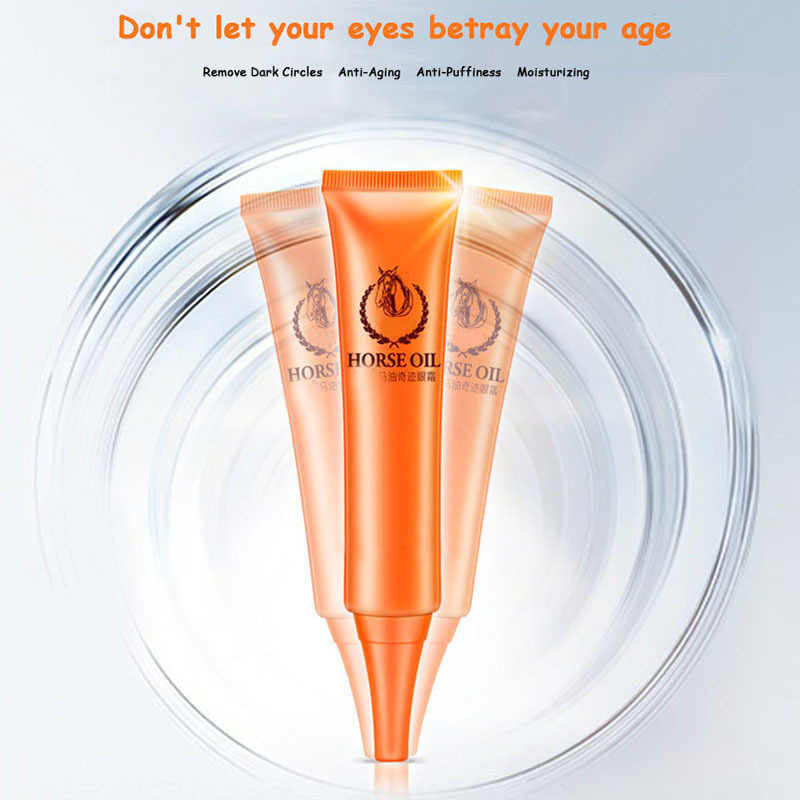 Horse oil Eye Cream 30ml Moisturizing compact to the bags under the eyes fat tablets dilute the fine lines Massage