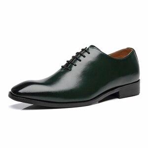 Image 2 - 2020 Men Shoes Business Suit Men Formal Dress Shoes Loafers Party Wedding Oxfords Big Size