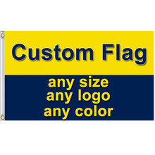 Sports Custom Flag Banner Any Logo Color 2x3ft 3x5ft 4x6ft 5x8ft Club Fans Gift Company Advertising Party Home Decor
