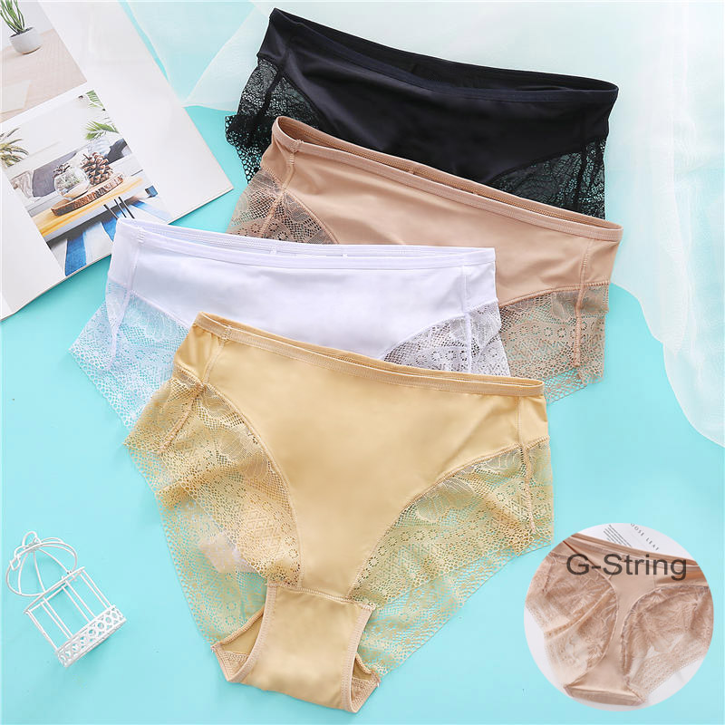 Sexy Seamless Panties Women Underpants Floral Lace Briefs For Female Underwear Solid Color Panties Lingerie Cotton Crotch Pantys