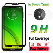 2 in 1 Screen Protector for Motorola Moto G7 Play G7 Power Tempered Glass for Moto G7 Plus Camera Lens for Motorola G7 Glass цена