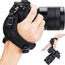 JJC Adjustable Quick Release Hand and Wrist Strap for Canon Nikon Sony Fujifilm Olympus Pentax Panasonic Holds Cameras With Lens