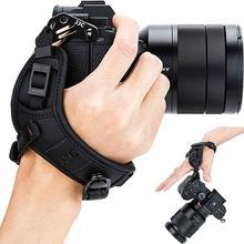 JJC ayarlanabilir hızlı bırakma el ve bilek kayışı Canon Nikon Sony için Fujifilm Olympus Pentax Panasonic tutar lensli fotoğraf makineleri