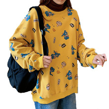 2019 Autumn New Female Harajuku Fashion Sweatshirt Casual Oversized Loose Cartoon Dinosaur Tyrannosaurus Hoodies Kawaii Pullover