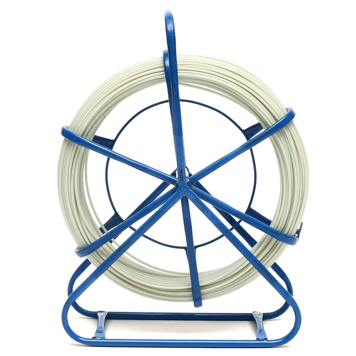 4.8/6mm 100m électrique bobine fil câble en cours d'exécution tige Conduit Rodder poisson bande extracteur utilisé pour télécom mur et sol Conduit - 3