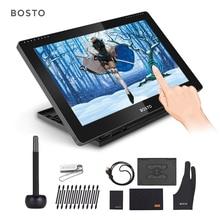 بوستو BT 16HDT المحمولة 15.6 بوصة H IPS شاشات الكريستال السائل الرسومات الرسم أقراص رقمية الفن الرسومات اللوحي رصد 8192 الضغط