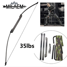 35 lbs 40 lbs Taken Down Bow Recurve Bow for Right Handed Archery Bow Shooting Hunting Game Outdoor Sports цена и фото