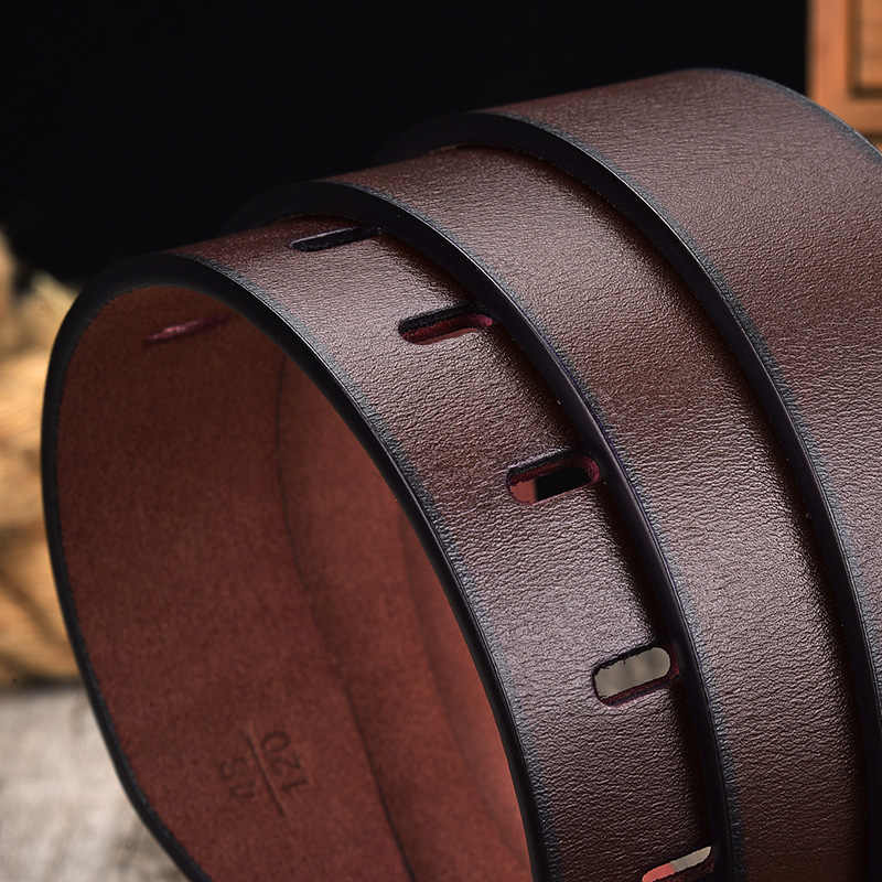 [Lfmb] cinto de couro masculino fivela de pino de vaca cintos de couro genuíno para homens 130cm de alta qualidade cinto masculino cinturones hombre