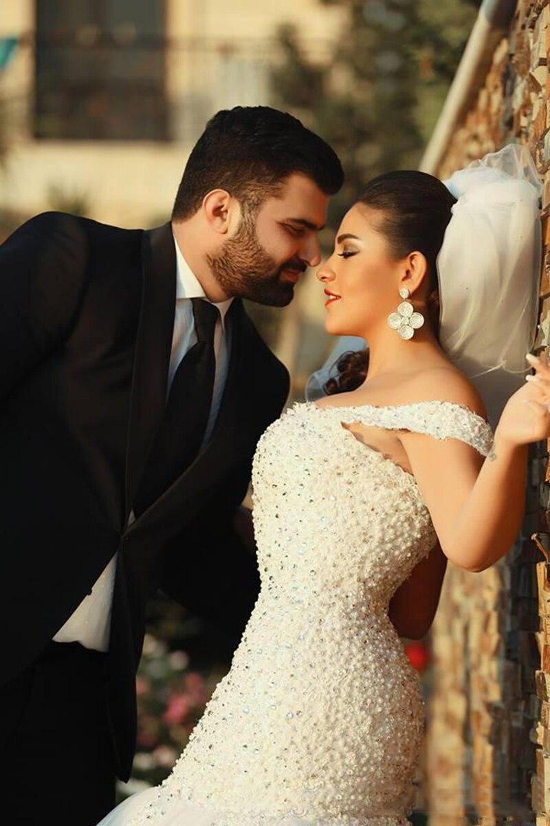 Потрясающее блестящее свадебное платье со шлейфом, милое с открытыми плечами, с бисером, с лифом, сексуальное, с открытой спиной, Русалка
