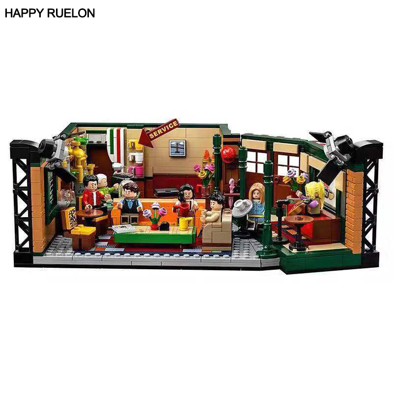 New Classic TV Ideas Set American Drama Friends Central Perk Cafe Fit Model Building Block Bricks Legoingly 21319 Toys Gifts Kid