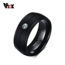 Vnox Для мужчин Панк чистый Титан черное кольцо 8 мм матовый