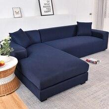 גריי צבע אלסטי ספה ספה כיסוי ספה הדו מושבית כיסוי ספה מכסה חתך סלון ספה ריפוד כורסא ריהוט כיסוי