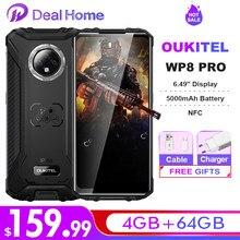 Oukitel wp8 pro nfc ip68 telefone áspero móvel 6.49 display display display de impressão digital android 10 4gb 64gb 5000mah 16mp triplo câmera