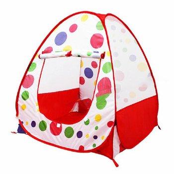 Namiot dziecięcy kryty i zabawki do zabawy na zewnątrz domek do zabawy namiot do zabawy wyskakuje wewnątrz namiot do zabawy na zewnątrz wyposażony jest w wygodną torba do noszenia tanie i dobre opinie OCDAY Poliester becareful Children s tent Składany 95 * 90 * 90cm Red edge roof Black edge roof (optional)