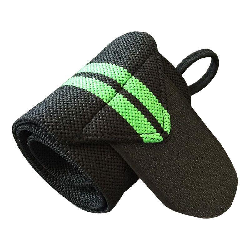 1 шт. желтые обертывания для рук, защита запястья, пояс для тяжелой атлетики, повязка красного цвета для кроссфита, бодибилдинга, пауэрлифтинга, поддерживающий ремень, цвет - Цвет: Green