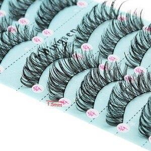 Image 5 - 10 صناديق/100 Pairs طويلة الطبيعية لينة المستوردة الحرير بروتين الألياف الرموش الصناعية سميكة عبر العين لاش تمديد ماكياج