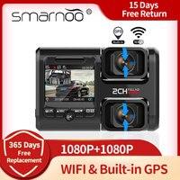 Salpicadero DVR con cámara de visión trasera, grabador de vídeo Full HD con GPS integrado, Wifi, ADAS, Visión Nocturna Automática, aparcamiento 24H, 1080