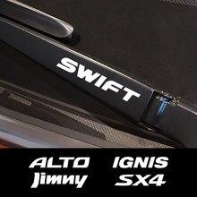 Para Suzuki Swift SX4 Jimny Ignis Alto Samurai Baleno Grand Vitara Celerio Ciaz Ertiga Ecuador S-Cross Ventana de coche limpiaparabrisas pegatinas