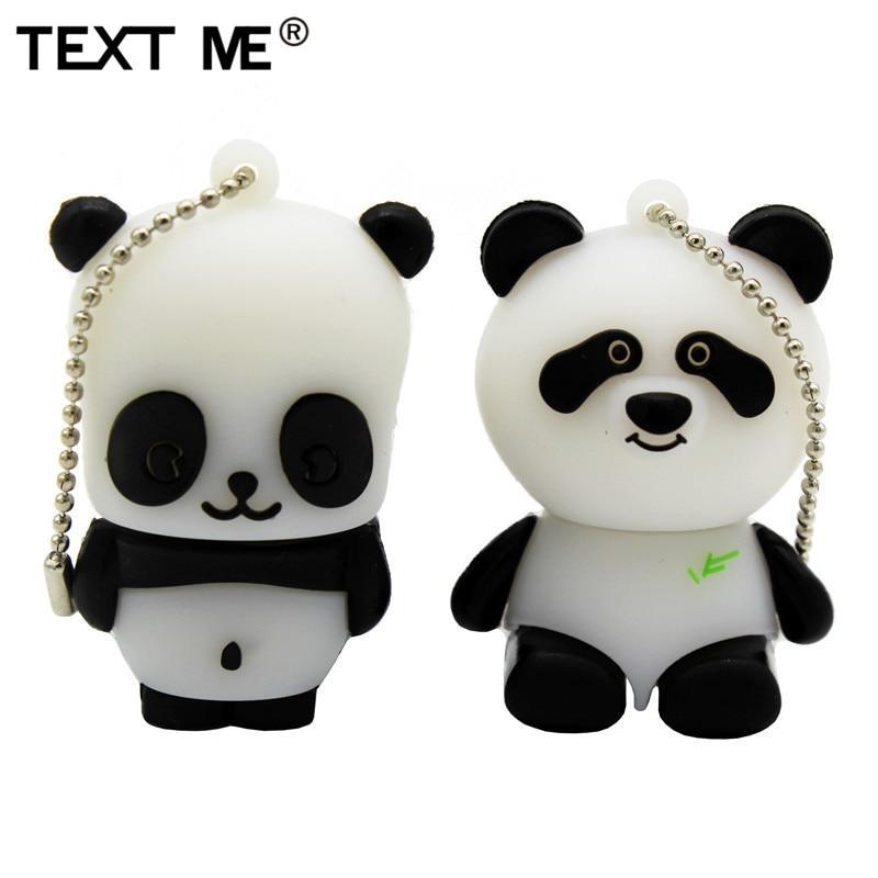 TEXT ME Cartoon 64GB China Giant Panda Model Usb Flash Drive Usb 2.0 4GB 8GB 16GB 32GB Gift Pendrive
