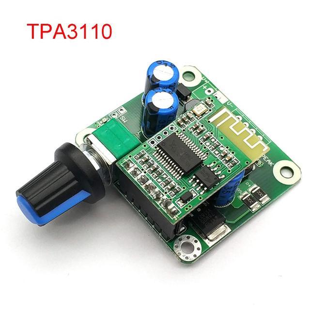 بلوتوث 4.2 TPA3110 15 واط + 15 واط الرقمية ستيريو الصوت مكبر كهربائي لوحة تركيبية 12 فولت 24 فولت سيارة ل سماعات USB ، المحمولة المتكلم