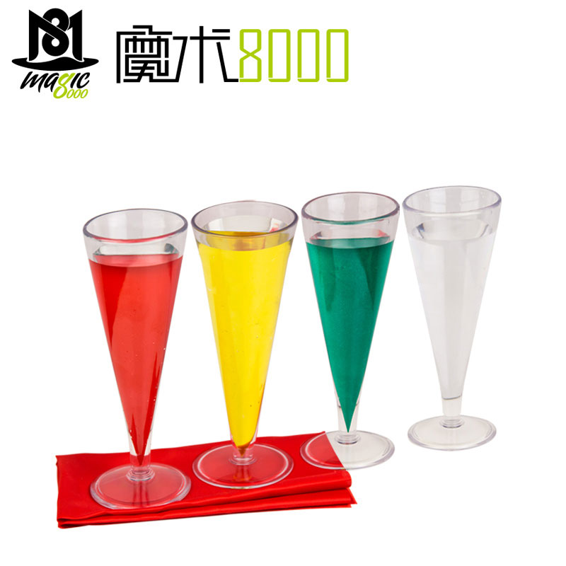 Glass Color Change Chameleon Champagne Magic Tricks Liquid Color Change Magia Magician Stage Party Bar Gimmick Comedy Mentalism image