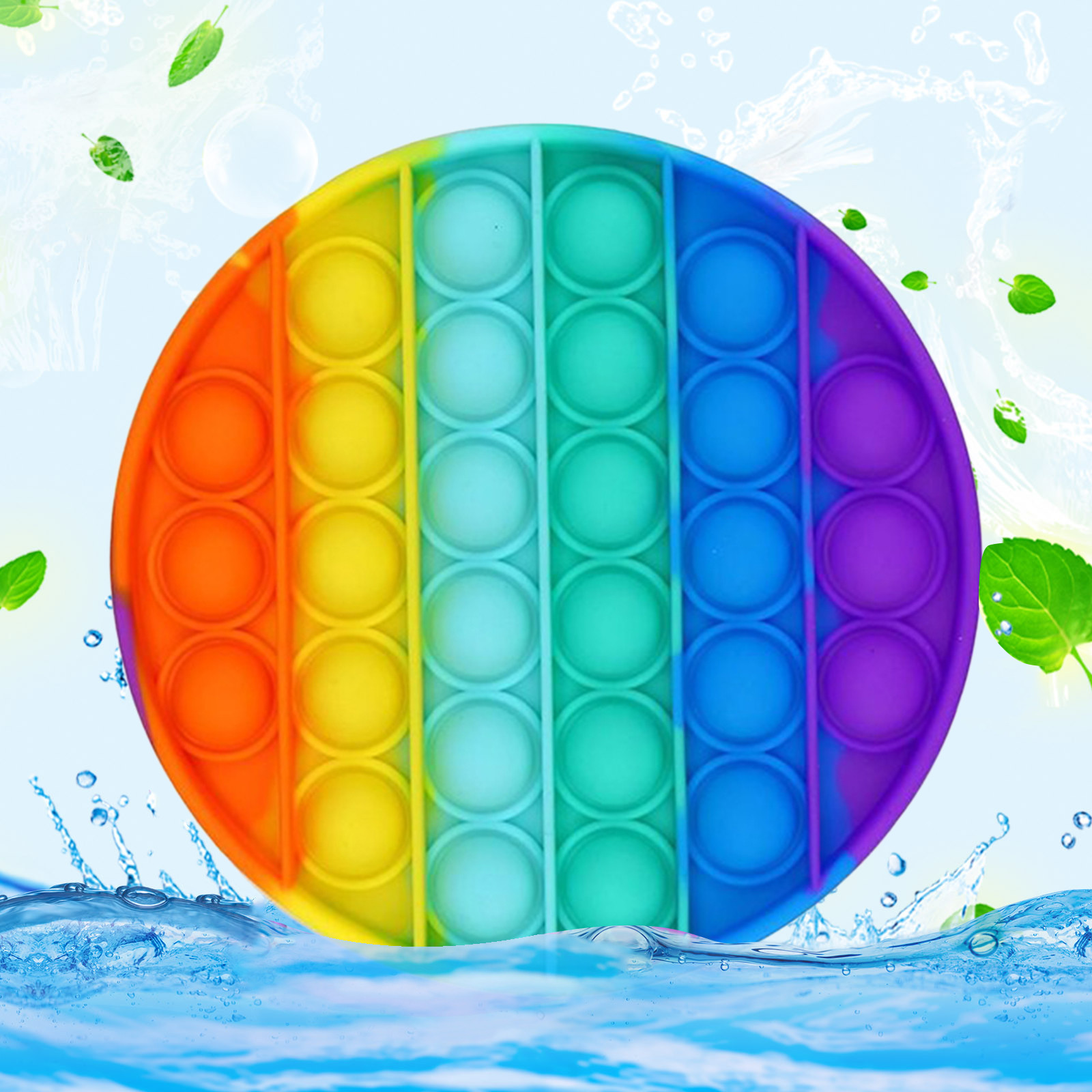 Fidget-Sensory-Toy Game-Stress Bubble Pops Squishy-Pops Special Needs Rainbow-Push Autisim img4