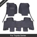 ROWNFUR 3D Leder Auto Boden Matten Für Toyota Land Cruiser 100 200 77 80 Nach Maß Luxus Auto Matten Schützen innen zubehör