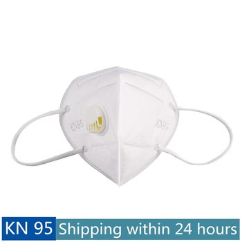 KN95 White Face Mask Respirator Mask 5 Layers Protection Anti-dust Face Mask with Breathing Valve Mascarillas Máscara Maschera