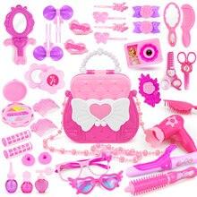 Игрушки для макияжа девочек с милой сумкой игрушка имитации