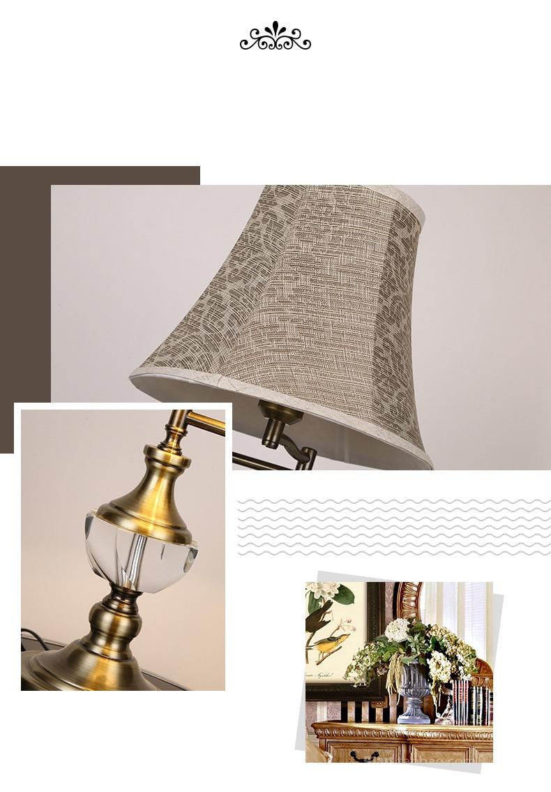quarto candeeiro mesa ajustável luz