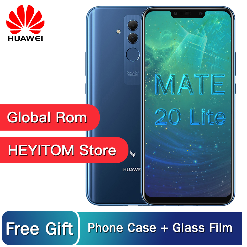 Huawei Mate 20 Lite Maimang 7 6GB 64GB Global Rom téléphone Mobile 6.3 pouces Kirin 710 Octa Core 9 V/2A Charge rapide Android 8.1