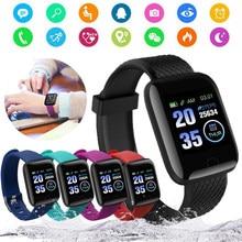 Reloj inteligente deportivo resistente al agua para hombre, pulsera deportiva resistente al agua IP67 con Bluetooth, control del ritmo cardíaco y Contador de pasos, 116 Plus
