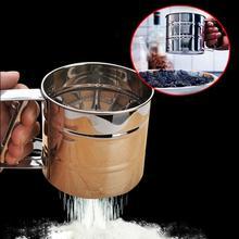 1 PC Manual Cup Flour Sugar Icing Mesh Sifter Shaker Stainless Steel Sugar Icing Shaker Baking Kitchen Tool High Quality nicole hampton sugar high