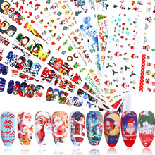 12pcs Charms Nail Art Stickers Christmas Decals Decorations Transfer Foils Snowflakes Flowers Designs Sliders Manicure TRBN/A 1
