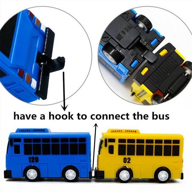 Nouveau 4 pièces/ensemble Tayo le petit Bus Mini plastique retirer bleu Tayo rouge Gani jaune Lani vert Rogi Bus voiture modèle pour bébé cadeau