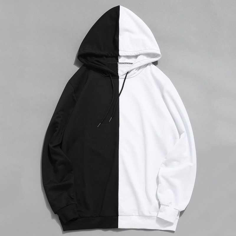 2020 new half zipper hooded casual cotton sweatshirt @@