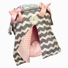 Детское автомобильное кресло, покрывало, модный бант, для новорожденных, для девочек, мягкое, безопасное, автомобильное сиденье, навес, для кормления, покрытие, многоразовое, покрывало