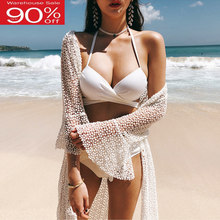 Solid Badpak Vrouwen Bikini Set Cover Up Bandage Push-Up Badmode M-2XL Plus Size Biquini 2020 Korea Stijl Sexy badpakken(China)