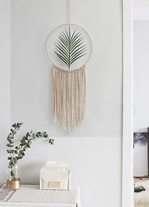 Image 3 - 2 個セットマクラメ綿曼荼羅タペストリー壁掛け手織りタートルリーフベッドルームの装飾結婚式の装飾